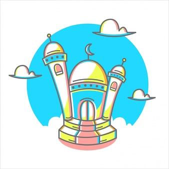 Illustrazione semplice della moschea