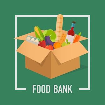 Illustrazione semplice di concetto della banca dell'alimento.