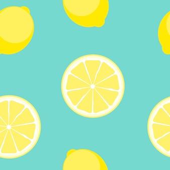 Illustrazione senza cuciture di vettore del modello del limone astratto