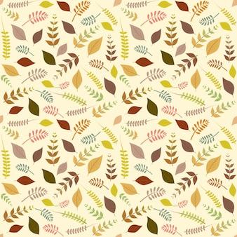 Illustrazione senza cuciture di vettore del modello delle foglie di autunno