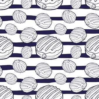 Illustrazione senza cuciture di vettore del modello delle guarnizioni di gomma piuma
