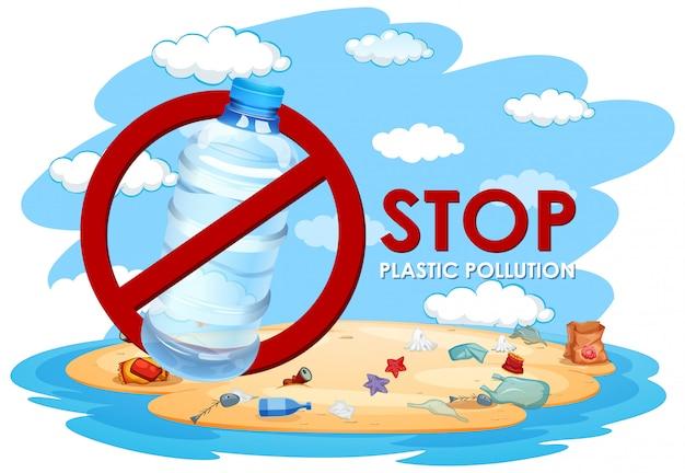 Illustrazione senza inquinamento di plastica