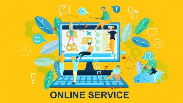 Illustrazione servizio online acquisti in internet