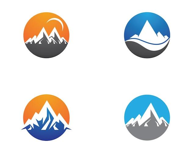Illustrazione simbolo di montagna