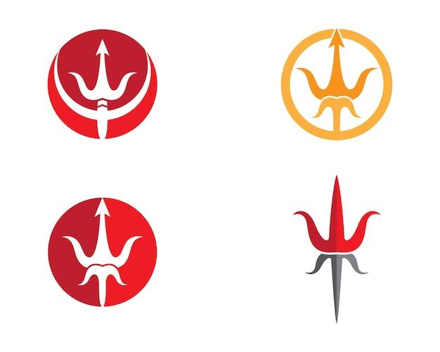 Illustrazione simbolo tridente