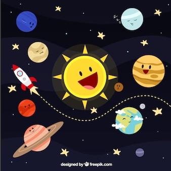 Illustrazione sistema solare