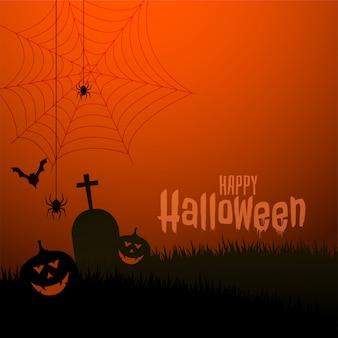 Illustrazione spaventosa felice di festival di tema di halloween