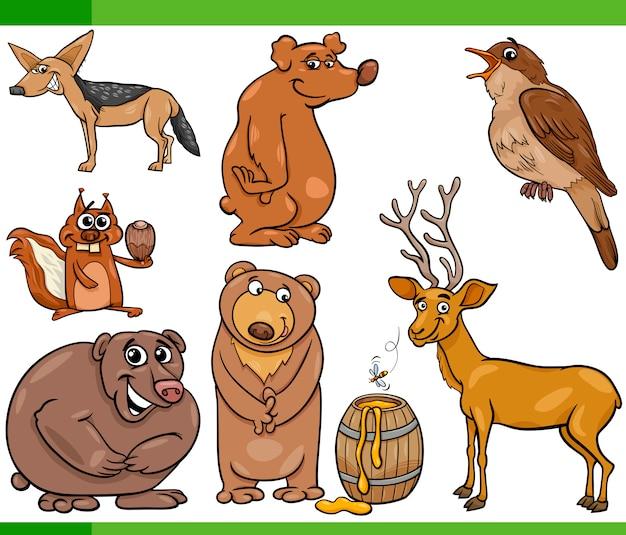 Illustrazione stabilita del fumetto degli animali selvatici