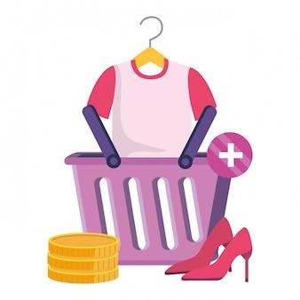 Illustrazione stabilita dell'icona di acquisto