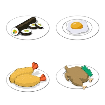 Illustrazione stabilita di foood