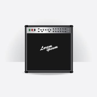 Illustrazione stabilita di vettore dell'amplificatore della chitarra