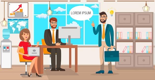Illustrazione startup di idea di affari di proposta