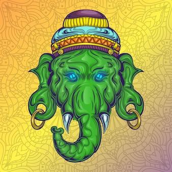 Illustrazione stock ganesha god