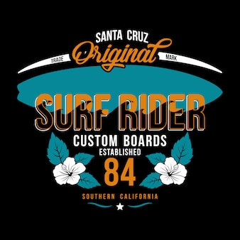 Illustrazione surf rider background