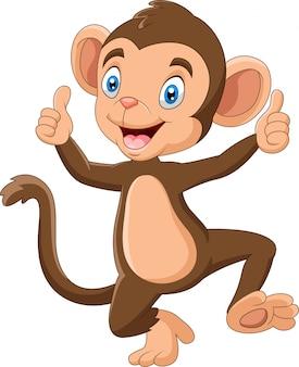 Illustrazione sveglia del fumetto della scimmia del bambino