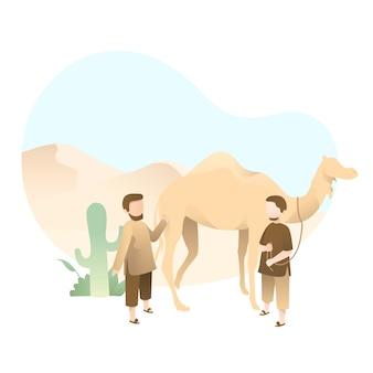 Illustrazione sveglia di eid al adha