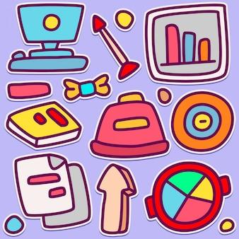 Illustrazione sveglia di progettazione di scarabocchio di affari
