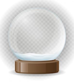 Illustrazione trasparente di vettore del globo della neve