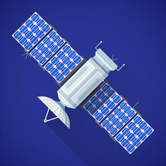 Illustrazione variopinta dell'antenna di radiodiffusione satellitare dello spazio