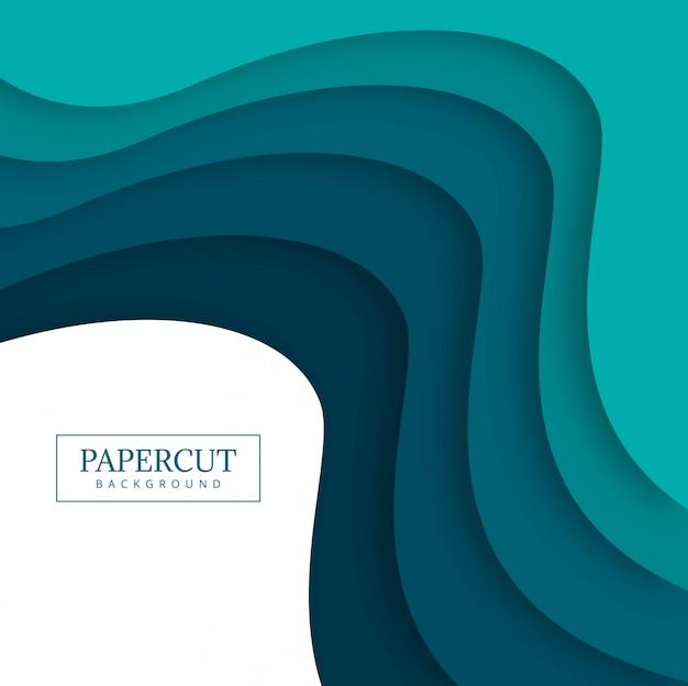 Illustrazione variopinta di progettazione dell'onda di papercut