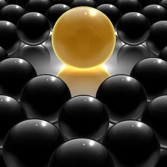 Illustrazione vettoriale 3d di nero metallizzato