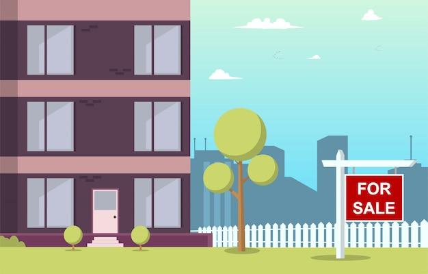 Illustrazione vettoriale cartoon appartamento in vendita