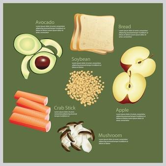 Illustrazione vettoriale cibo ingrediente