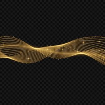 Illustrazione vettoriale colorato con elementi decorativi dorati su sfondo nero. modelli astratti per la progettazione di vacanze