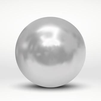 Illustrazione vettoriale con palla d'argento