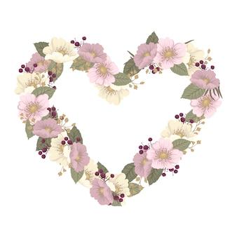 Illustrazione vettoriale con un cuore. perfetto per san valentino, compleanno, salva l'invito alla data