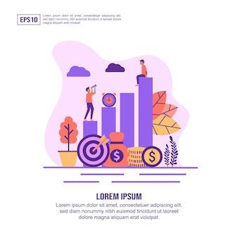 Illustrazione vettoriale concetto di ritorno sull'investimento