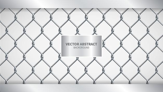 Illustrazione vettoriale creativo sfondo di recinzione a catena