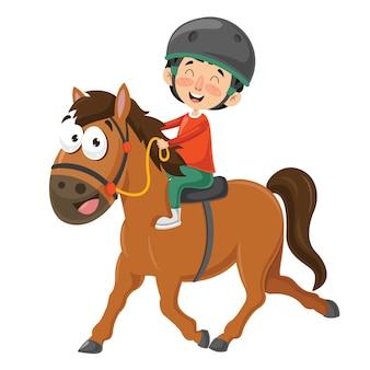 Illustrazione vettoriale del cavallo da equitazione