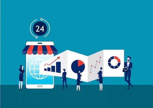 Illustrazione vettoriale del concetto di business online
