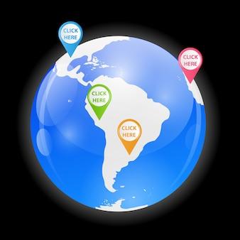 Illustrazione vettoriale del globo