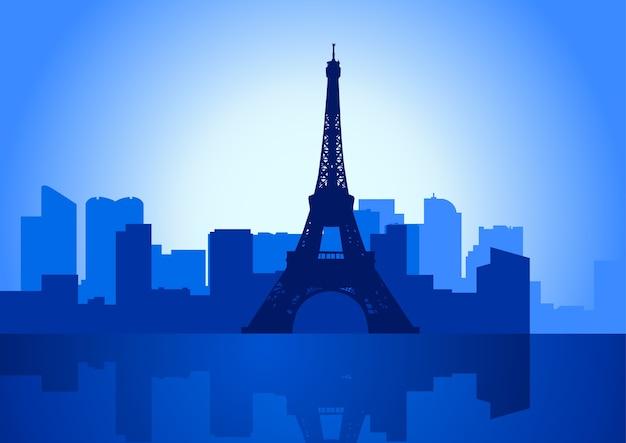 Illustrazione vettoriale dell'orizzonte di parigi