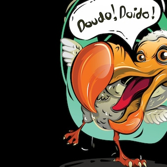 Illustrazione vettoriale dell'uccello dodo