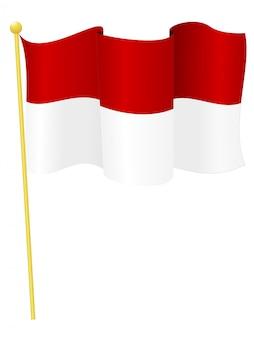 Illustrazione vettoriale della bandiera indonesia