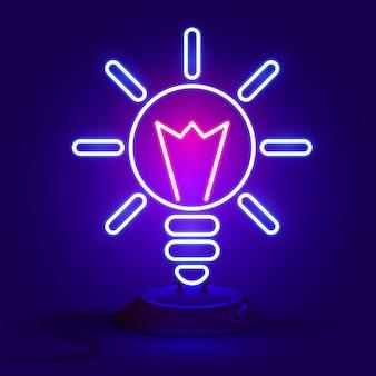 Illustrazione vettoriale della lampadina e il concetto di idea.