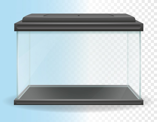 Illustrazione vettoriale di acquario trasparente