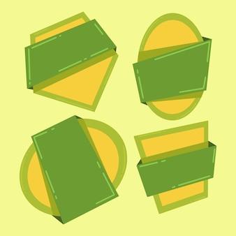 Illustrazione vettoriale di adesivi
