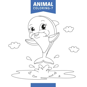 Illustrazione vettoriale di animali da colorare