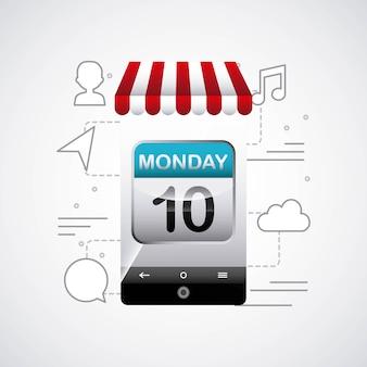 Illustrazione vettoriale di app store design