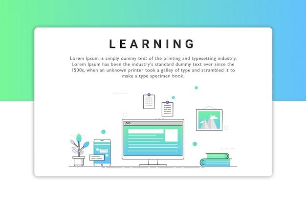 Illustrazione vettoriale di apprendimento