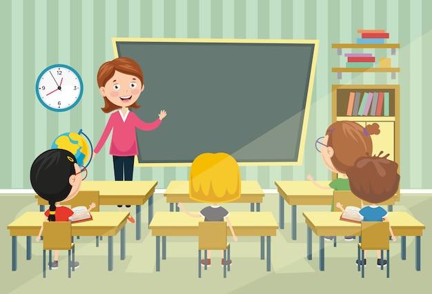 Illustrazione vettoriale di aula