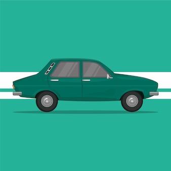 Illustrazione vettoriale di auto verde
