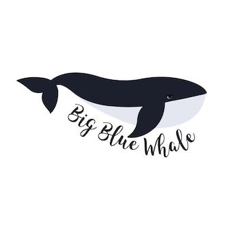 Illustrazione vettoriale di balena. disegno del simbolo