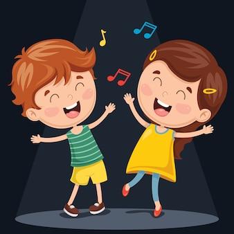Illustrazione vettoriale di balli di bambini