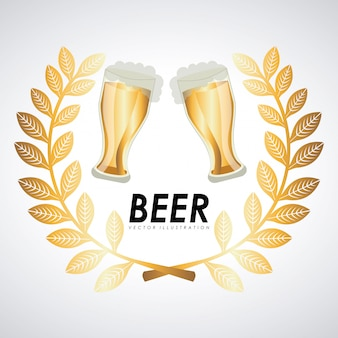 Illustrazione vettoriale di birra graphic design