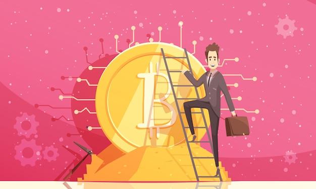Illustrazione vettoriale di bitcoin